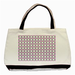 Plaid Pattern Basic Tote Bag (two Sides) by ValentinaDesign