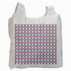 Plaid Pattern Recycle Bag (one Side) by ValentinaDesign