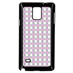 Plaid pattern Samsung Galaxy Note 4 Case (Black) Front