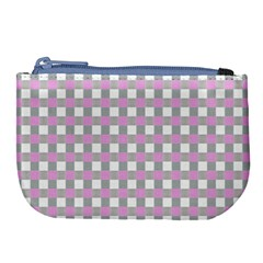 Plaid Pattern Large Coin Purse