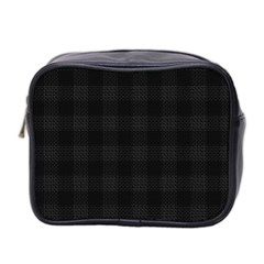 Plaid Pattern Mini Toiletries Bag 2 Side by ValentinaDesign