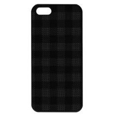 Plaid Pattern Apple Iphone 5 Seamless Case (black) by ValentinaDesign