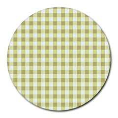 Plaid Pattern Round Mousepads by ValentinaDesign