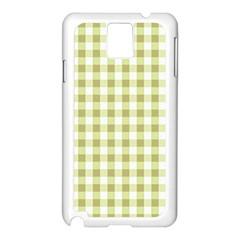 Plaid Pattern Samsung Galaxy Note 3 N9005 Case (white) by ValentinaDesign