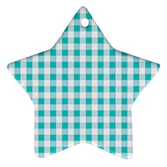 Plaid Pattern Star Ornament (two Sides) by ValentinaDesign