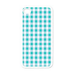 Plaid Pattern Apple Iphone 4 Case (white) by ValentinaDesign