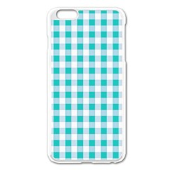 Plaid Pattern Apple Iphone 6 Plus/6s Plus Enamel White Case by ValentinaDesign