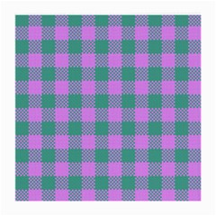 Plaid Pattern Medium Glasses Cloth