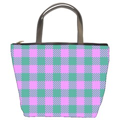 Plaid Pattern Bucket Bags by ValentinaDesign