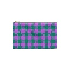 Plaid Pattern Cosmetic Bag (small)
