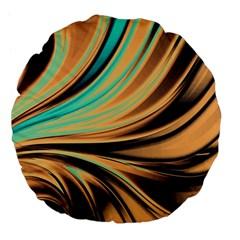 Colors Large 18  Premium Flano Round Cushions by ValentinaDesign
