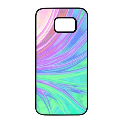 Colors Samsung Galaxy S7 Edge Black Seamless Case by ValentinaDesign