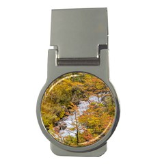 Colored Forest Landscape Scene, Patagonia   Argentina Money Clips (round)  by dflcprints