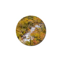 Colored Forest Landscape Scene, Patagonia   Argentina Golf Ball Marker (4 Pack) by dflcprints