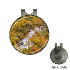 Colored Forest Landscape Scene, Patagonia   Argentina Hat Clips With Golf Markers by dflcprints