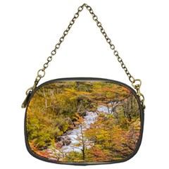 Colored Forest Landscape Scene, Patagonia   Argentina Chain Purses (one Side)  by dflcprints