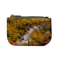 Colored Forest Landscape Scene, Patagonia   Argentina Mini Coin Purses by dflcprints