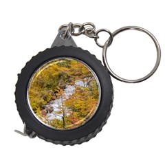 Colored Forest Landscape Scene, Patagonia   Argentina Measuring Tapes by dflcprints
