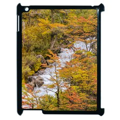 Colored Forest Landscape Scene, Patagonia   Argentina Apple Ipad 2 Case (black) by dflcprints