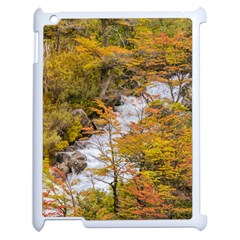 Colored Forest Landscape Scene, Patagonia   Argentina Apple Ipad 2 Case (white) by dflcprints