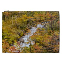 Colored Forest Landscape Scene, Patagonia   Argentina Cosmetic Bag (xxl)  by dflcprints