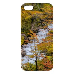 Colored Forest Landscape Scene, Patagonia   Argentina Apple Iphone 5 Premium Hardshell Case by dflcprints