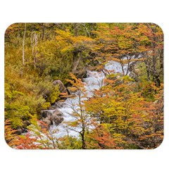 Colored Forest Landscape Scene, Patagonia   Argentina Double Sided Flano Blanket (medium)  by dflcprints
