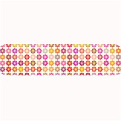 Multicolored Floral Pattern Large Bar Mats by linceazul