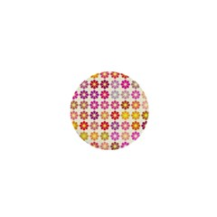 Multicolored Floral Pattern 1  Mini Buttons by linceazul