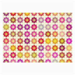 Multicolored Floral Pattern Large Glasses Cloth (2 Side) by linceazul