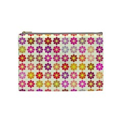 Multicolored Floral Pattern Cosmetic Bag (medium)  by linceazul