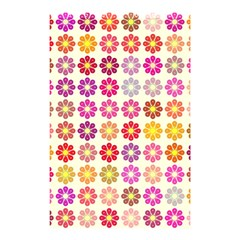 Multicolored Floral Pattern Shower Curtain 48  X 72  (small)  by linceazul