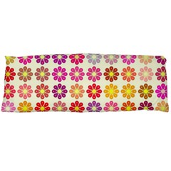 Multicolored Floral Pattern Body Pillow Case Dakimakura (two Sides) by linceazul