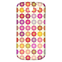 Multicolored Floral Pattern Samsung Galaxy S3 S Iii Classic Hardshell Back Case by linceazul