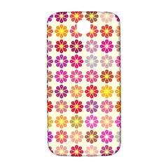 Multicolored Floral Pattern Samsung Galaxy S4 I9500/i9505  Hardshell Back Case by linceazul