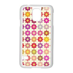 Multicolored Floral Pattern Samsung Galaxy S5 Case (white) by linceazul