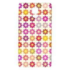 Multicolored Floral Pattern Galaxy Note 4 Back Case by linceazul