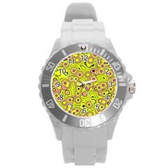 Bubble Fun 17d Round Plastic Sport Watch (l) by MoreColorsinLife