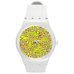 Bubble Fun 17d Round Plastic Sport Watch (m) by MoreColorsinLife