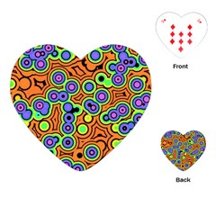 Bubble Fun 17a Playing Cards (heart)  by MoreColorsinLife