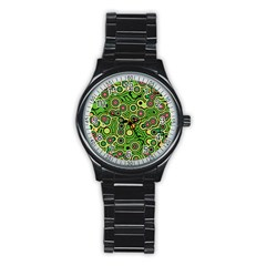 Bubble Fun 17c Stainless Steel Round Watch by MoreColorsinLife