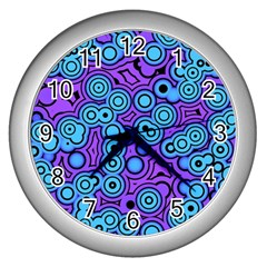 Bubble Fun 17f Wall Clocks (silver)  by MoreColorsinLife