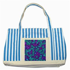 Bubble Fun 17f Striped Blue Tote Bag by MoreColorsinLife