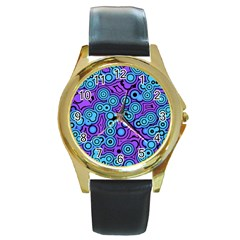 Bubble Fun 17f Round Gold Metal Watch by MoreColorsinLife
