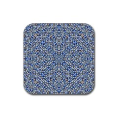 Geometric Luxury Ornate Rubber Square Coaster (4 Pack)  by dflcprints