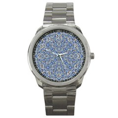 Geometric Luxury Ornate Sport Metal Watch by dflcprints