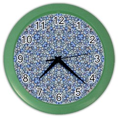 Geometric Luxury Ornate Color Wall Clocks by dflcprints