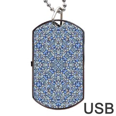 Geometric Luxury Ornate Dog Tag Usb Flash (one Side) by dflcprints