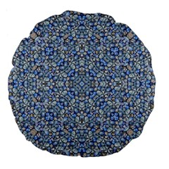 Geometric Luxury Ornate Large 18  Premium Flano Round Cushions by dflcprints