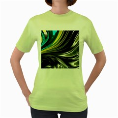 Colors Women s Green T Shirt by ValentinaDesign
